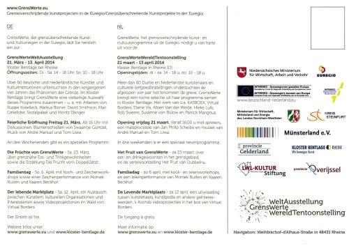 GrensWerteWereldTentoonstelling Rheine 2014 achterkant
